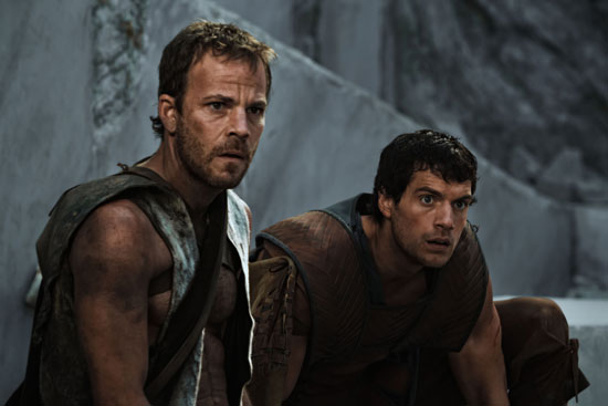 Stephen Dorff as Stavros and Henry Cavill as Theseus in Immortals. Photo courtesy of Relativity