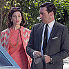 Jon Hamm and Jessica Pare Filming Mad Men Pictures