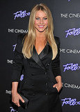 Julianne Hough wore a black suit to the premiere of Footloose in NYC.