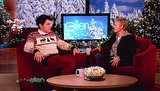 John Mayer made a December 2009 appearance on The Ellen DeGeneres Show wearing a Christmas sweater.