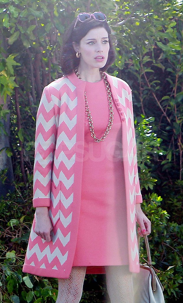 Jessica Paré filming Mad Men.