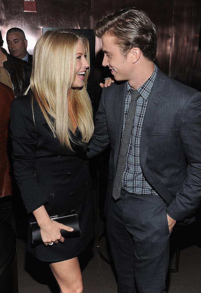 Kenny Wormald and Julianne Hough were happy to celebrate the premiere of Footloose in NYC.