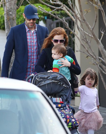 Isla Fisher, Sacha Baron Cohen, Elula Cohen, and Olive Cohen took a walk in Sydney.