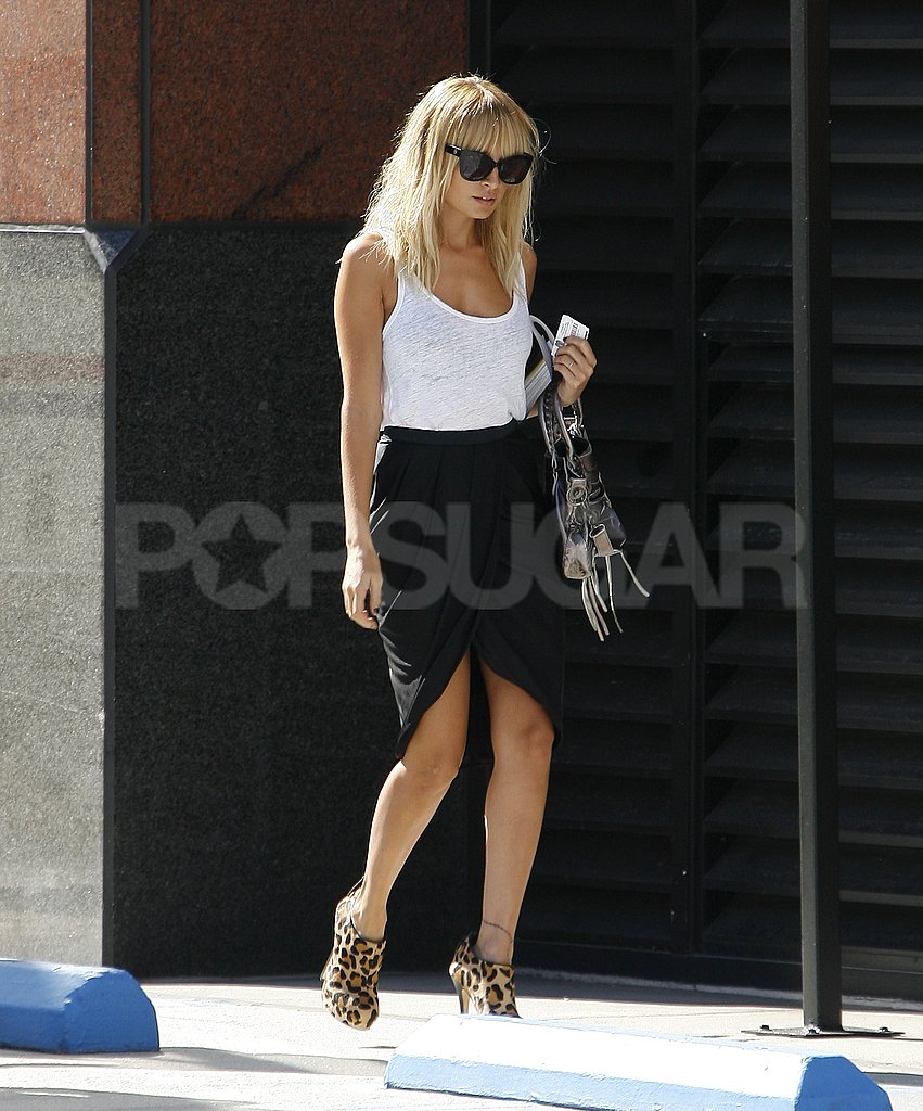Nicole Richie ran errands in style in LA.