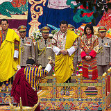 King Jigme Khesar Namgyel Wangchuck and Queen Ashi Jetsun Pema partake in a purification marriage ceremony.