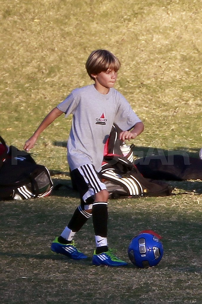 Romeo Beckham inherited his soccer skills from David Beckham.