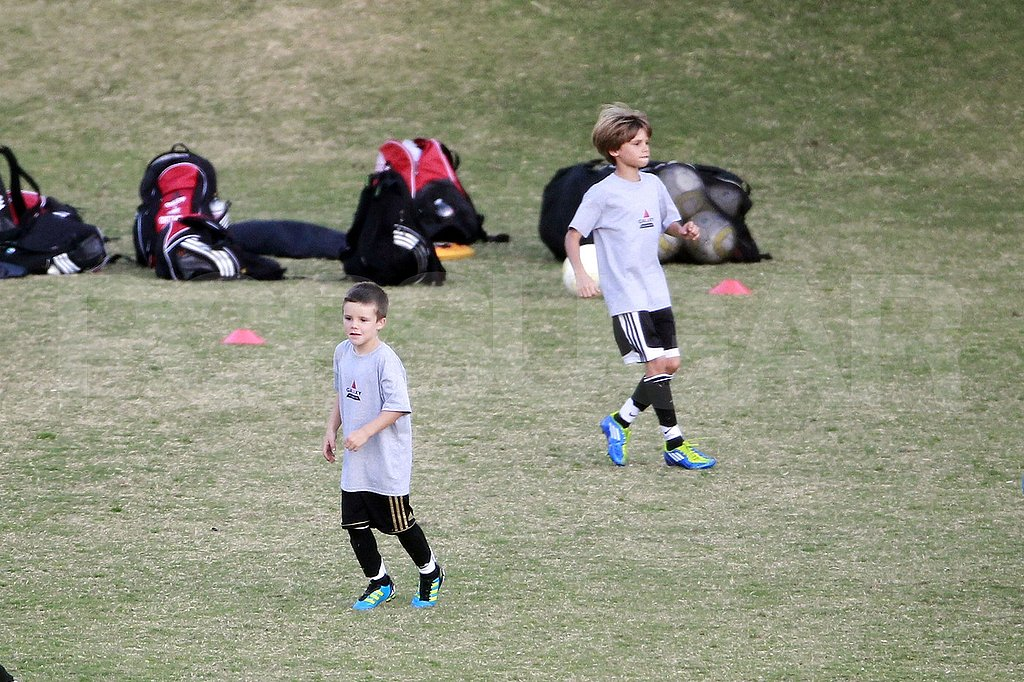 Romeo Beckham and Cruz Beckham played soccer together in LA.
