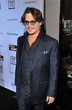 Johnny Depp smiled at the premiere of The Rum Diary in LA.