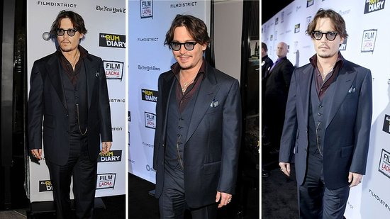 Video: Johnny Depp Gets Sweet and Sentimental at The Rum Diary Premiere