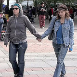 Amanda Knox held hands with her best friend, Madison Paxton.