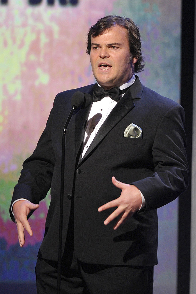 Jack Black wore a tuxedo for the special night.