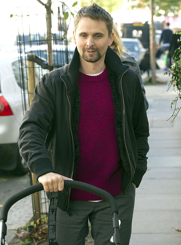 Matthew Bellamy out in London.