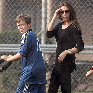 The Beckham Family at a Soccer Game Pictures