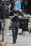 Ryan Reynolds on set in Boston.