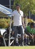 David Beckham at his kids' soccer games in LA.