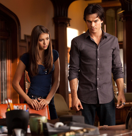 Elena and Damon From The Vampire Diaries