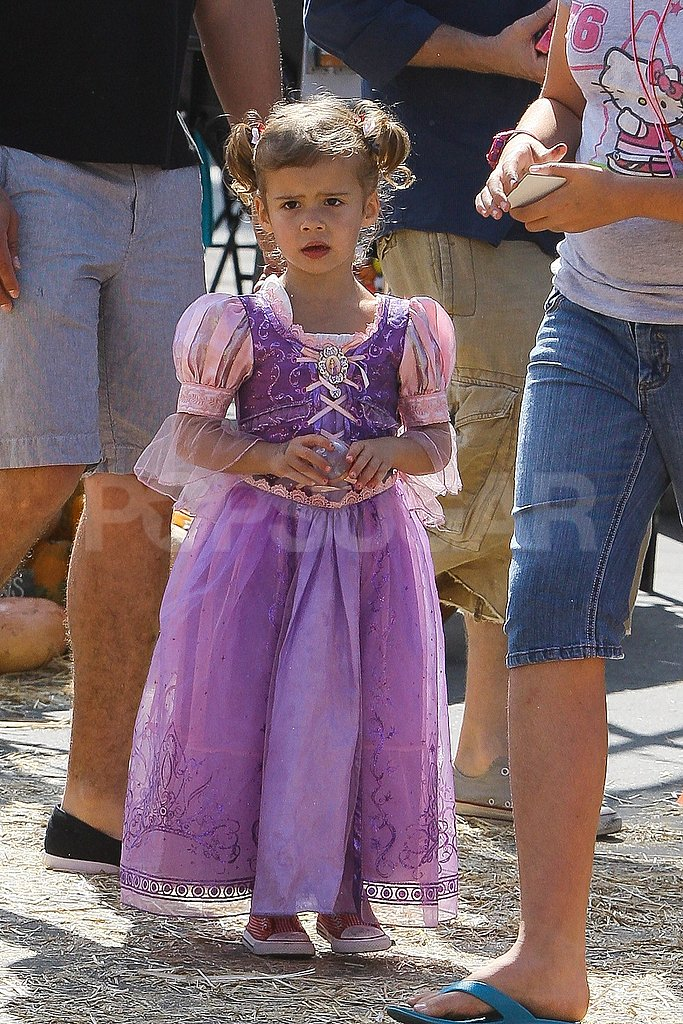 Honor Warren wore a princess dress in LA.