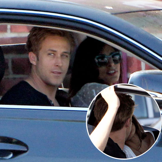 See Ryan Gosling and Eva Mendes Share an In-Car Kiss!