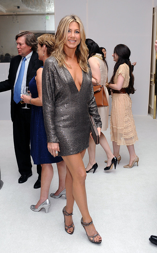 Jennifer Aniston put her best foot forward at an event for Elle in LA.