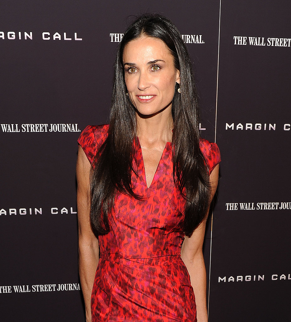 Demi Moore premiered her new film about the financial crises.