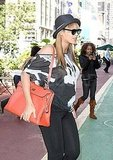 Beyoncé Knowles rocks a baby bump in NYC.