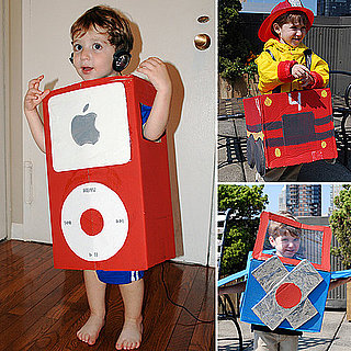 Kid Costumes Made From a Cardboard Box