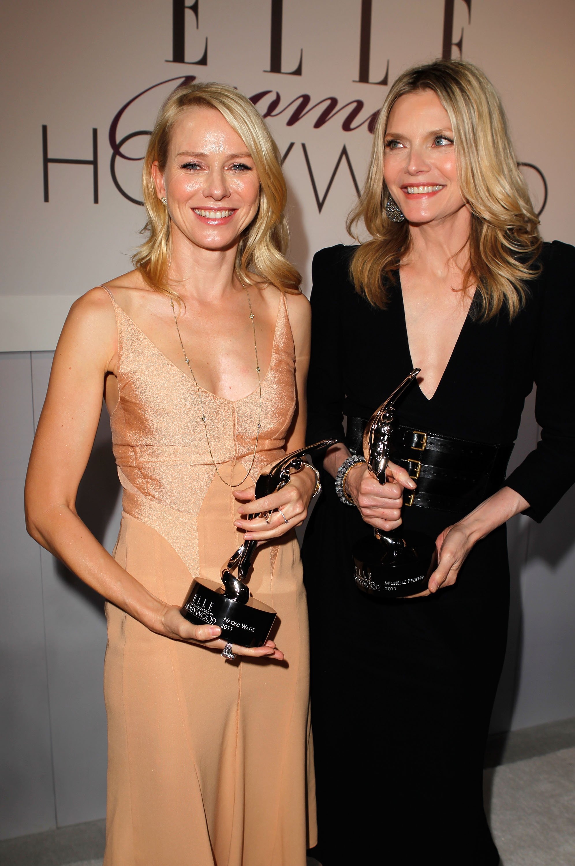 Naomi Watts and Michelle Pfeiffer were honored by Elle magazine.