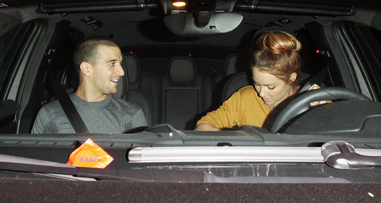 Lauren Conrad left Beso with Mark Ballas.