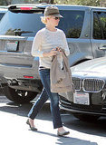 January Jones out in Pasadena.