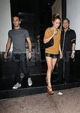 Lauren Conrad and Mark Ballas leave a LA club.