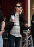 Jennifer Garner getting coffee in LA.
