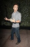 Derek Hough headed home following a night of dancing at the nighclub Tru with Lauren Conrad and Mark Ballas.