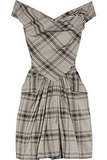 Who better to look to for our plaid party dress than Anglo style queen Vivienne Westwood. Vivienne Westwood Anglomania Marghi Taffeta Off-the-Shoulder Dress ($585)