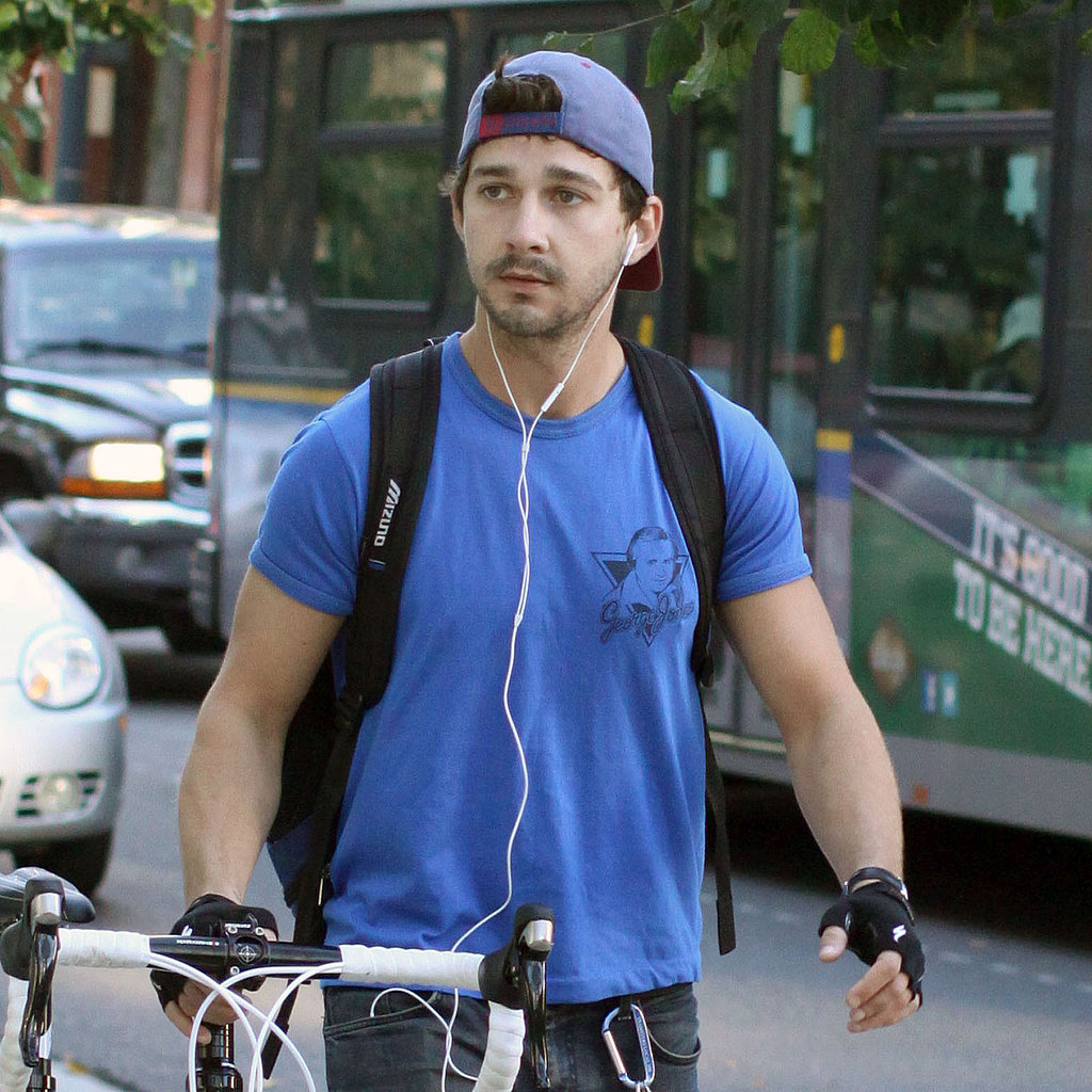Shia listened to music during his ride.