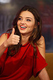 Miranda Kerr gave her stamp of approval to the jeweled bra.
