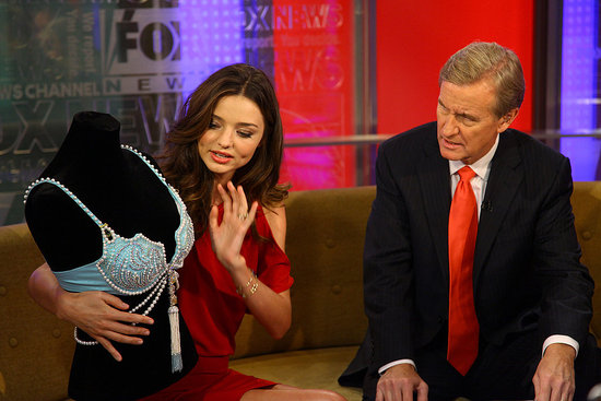 Miranda Kerr talked about the bra's jewels.