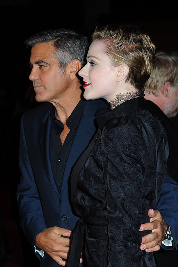 George Clooney and Evan Rachel Wood in London.