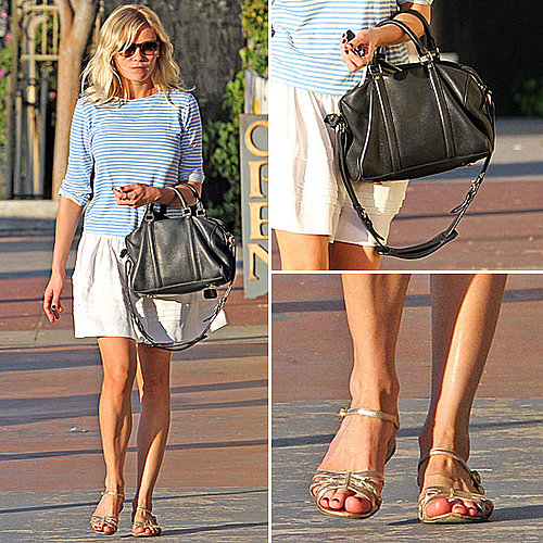 Kirsten Dunst Carrying a Louis Vuitton Bag October 19, 2011