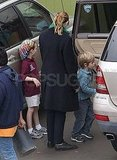 Julia Roberts and her kids in LA.