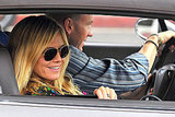 Heidi Klum got a lift from a friend yesterday.