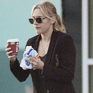 Kate Winslet Getting Food and Coffee to Go Pictures