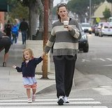Jennifer Garner held hands with Seraphina.