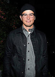 Josh Hartnett stopped for a quick photo inside the party.