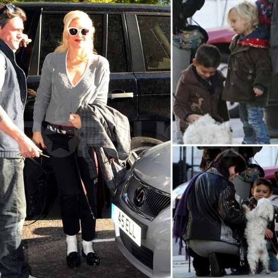 Gwen Stefani Does London as Kingston and Zuma Say Hi to Sister Daisy and Uncle Monty