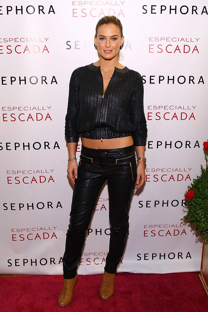 Bar Refaeli posed on the red carpet at an event in NYC.