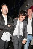 Zac Efron had a laugh with his friends in London.