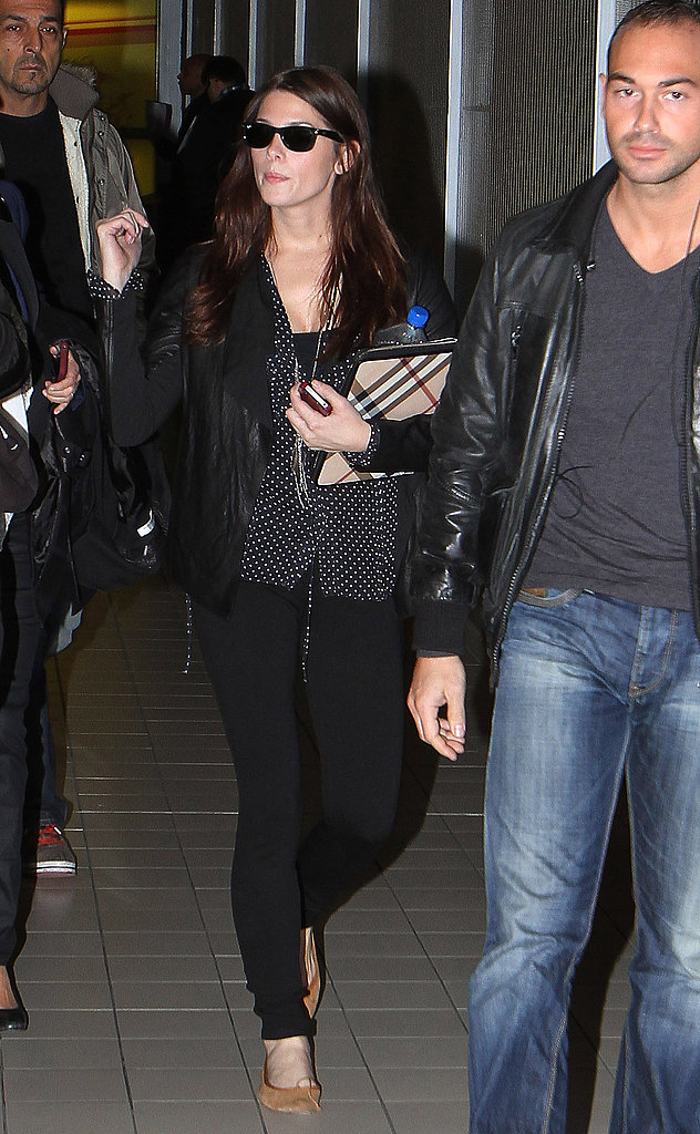 Ashley Greene landing in Paris.
