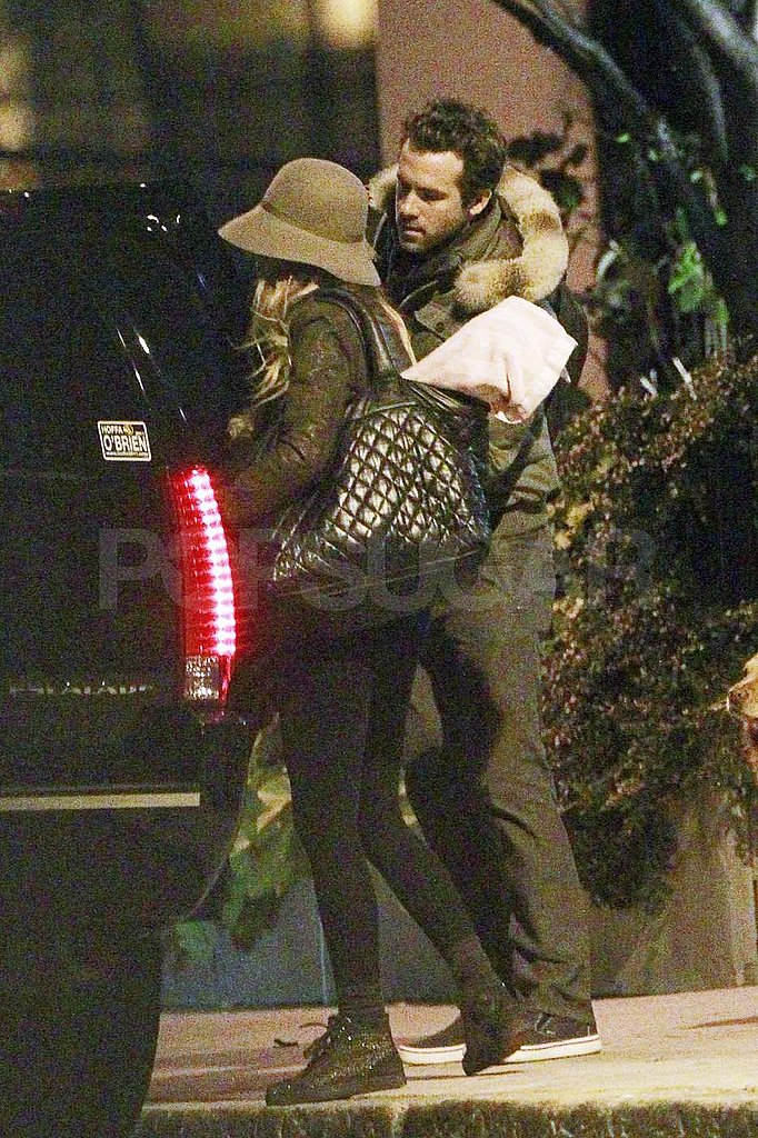 Ryan Reynolds and Blake Lively leaving a Boston hotel.