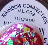 rainbow glitter nail polish