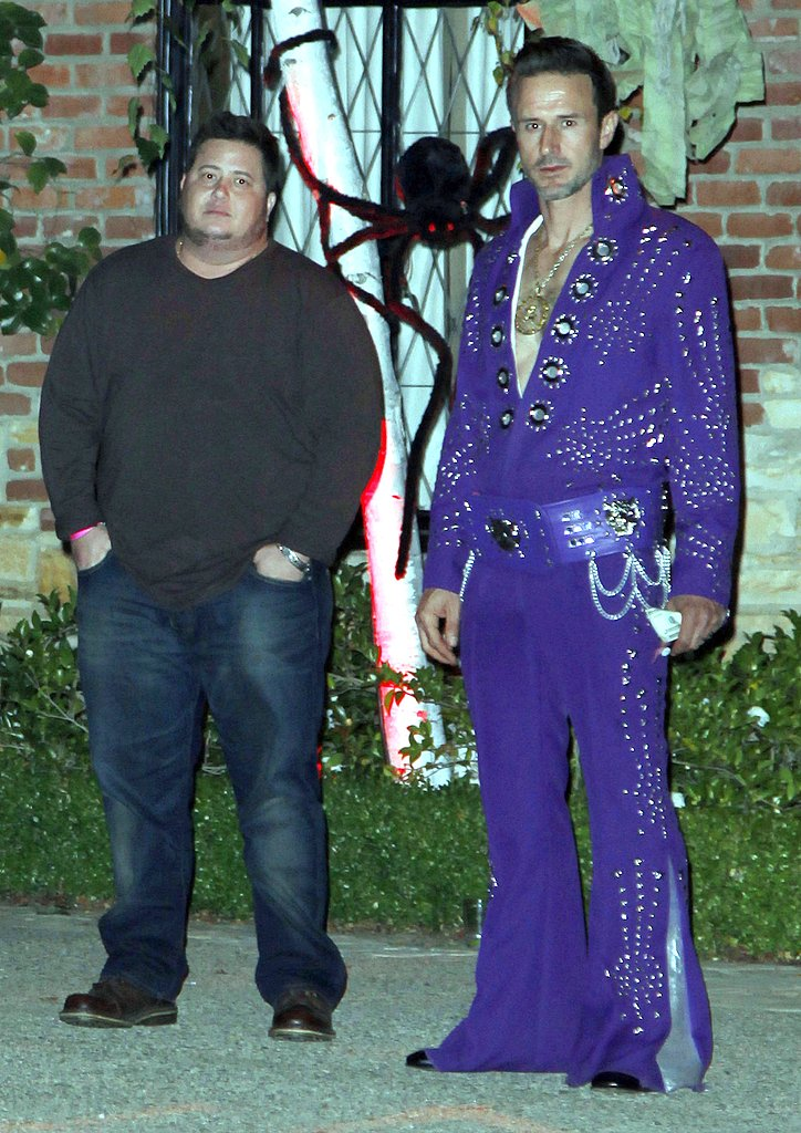 Chaz Bono and David Arquette in costume.